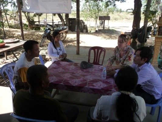 Meeting with the village chief